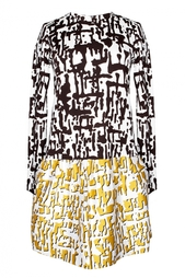 Шелковое платье с принтом Margaux Diane von Furstenberg