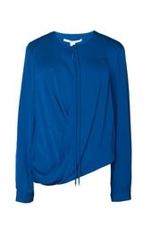 Шелковая блуза с запахом Diane von Furstenberg