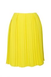 Юбка лимонного цвета в складку Diane von Furstenberg