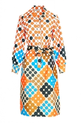 Винтажное платье с поясом (70-е гг.) Lanvin Vintage