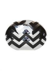 Черный овальный клатч Theodora Brian Atwood