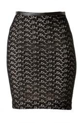 Юбка из хлопка с кружевным верхом Diane von Furstenberg