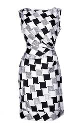 Шелковое платье с драпировкой Diane von Furstenberg