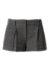 Черно-белые шорты из шелка и вискозы Diane von Furstenberg