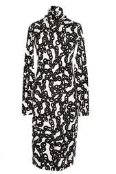 Платье под горло с принтом из цепей Diane von Furstenberg