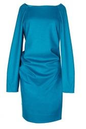 Платье с длинным рукавом и драпировкой Diane von Furstenberg