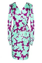 Платье с цветочным принтом с драпировкой Diane von Furstenberg