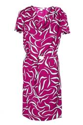 Драпированное платье с поясом Diane von Furstenberg