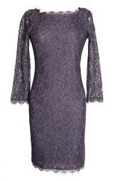 Кружевное платье из вискозы на молнии Diane von Furstenberg