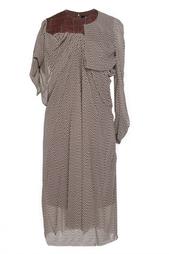 Платье с асимметричными рукавами Junya Watanabe