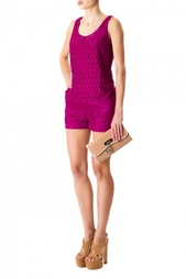 Яркие кружевные шорты Diane von Furstenberg