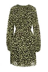 Легкое платье из полиэстера с поясом Diane von Furstenberg