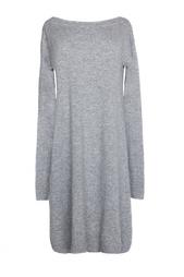 Серое трикотажное платье из шерсти и кашемира Diane von Furstenberg