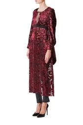 Платье-накидка из вискозы с принтом Junya Watanabe