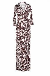 Длинное платье-халат Abigail Diane von Furstenberg