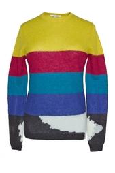 Пуловер из мохера с разноцветными полосами Carven