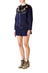 Куртка из вискозы и ацетата с вышивкой Isabel Marant