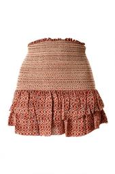 Шелковая мини-юбка с оборками Isabel Marant