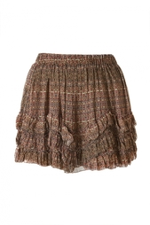 Разноцветная юбка-мини с оборками Isabel Marant