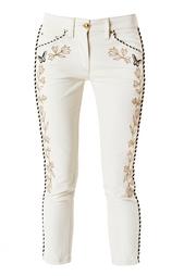Укороченные джинсы с вышивкой Isabel Marant