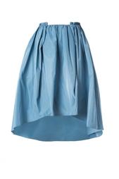 Голубая юбка с асимметричным подолом Carven
