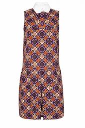 Платье с контрастным воротничком Carven