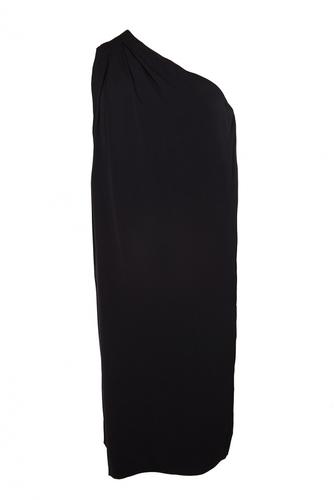 Шелковое асимметричное платье
