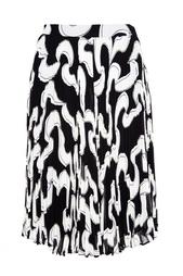 Плиссированная юбка с принтом Diane von Furstenberg