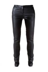 Узкие кожаные брюки Diane von Furstenberg