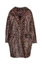 Удлиненный жакет с леопардовым принтом Diane von Furstenberg