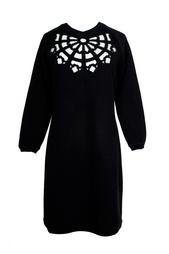 Платье из хлопка с вырезом на груди Carven