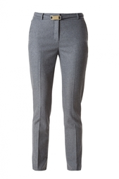 Прямые серые брюки с поясом Diane von Furstenberg