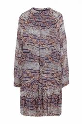 Платье с принтом свободного кроя Isabel Marant