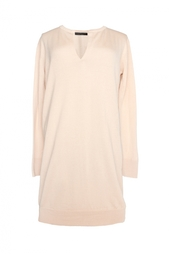 Платье телесного цвета из кашемира и шелка The Row