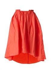 Красная юбка с асимметричным подолом Carven