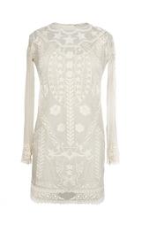 Платье-мини из хлопка с вышивкой Isabel Marant