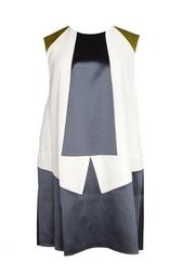 Платье-туника с геометрическим принтом Vionnet