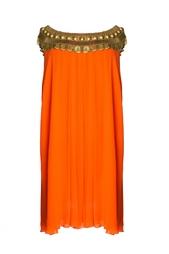 Платье с декоративным украшением на вороте (2006 г.) Vintage No Names