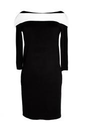 Черное платье с белой деталью (2001-2002 гг.) Balenciaga Vintage