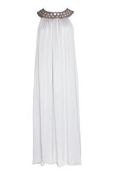Легкое платье с кожаным воротом в заклепках (2007 г.) Thomas Wylde
