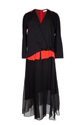 Асимметричное платье с шелковой юбкой Vionnet