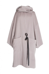 Шерстяное пальто с воротником-шарфом Diane von Furstenberg