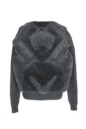 Пуловер с меховой отделкой Stella Mc Cartney