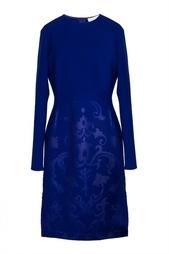Темно-синее платье-миди с принтом Stella Mc Cartney