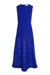 Темно-синее платье с принтом без рукавов Stella Mc Cartney