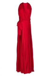 Плиссированное платье в пол Diane von Furstenberg