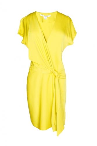 Шелковое платье-мини с запахом