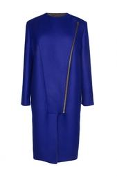 Синее пальто с асимметричной застежкой Stella Mc Cartney