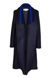 Пальто с вязаным воротником Stella Mc Cartney