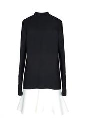 Черное платье с белой юбочкой-клеш - нет в наличии Stella Mc Cartney